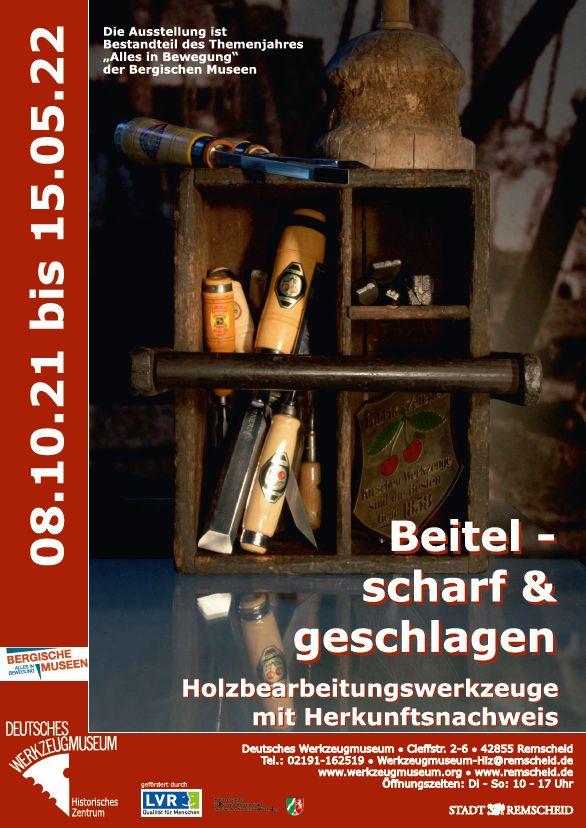 Ausstellungsplakat Beitel, Deutsches Werkzeugmuseum