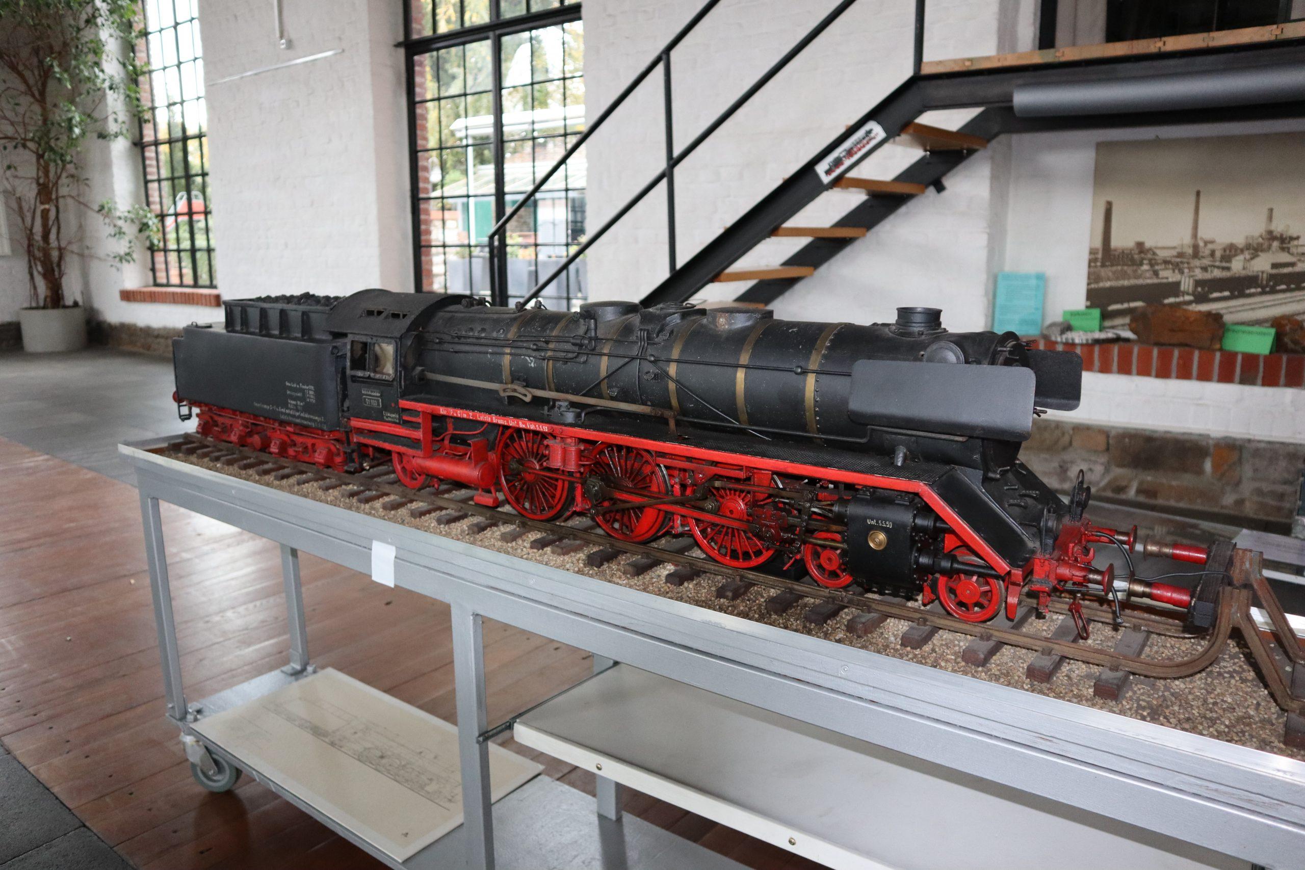 Dampflokmodell. Foto: Ralf Fellenberg, Eisenbahn- und Heimatmuseum Erkrath-Hochdahl e.V.