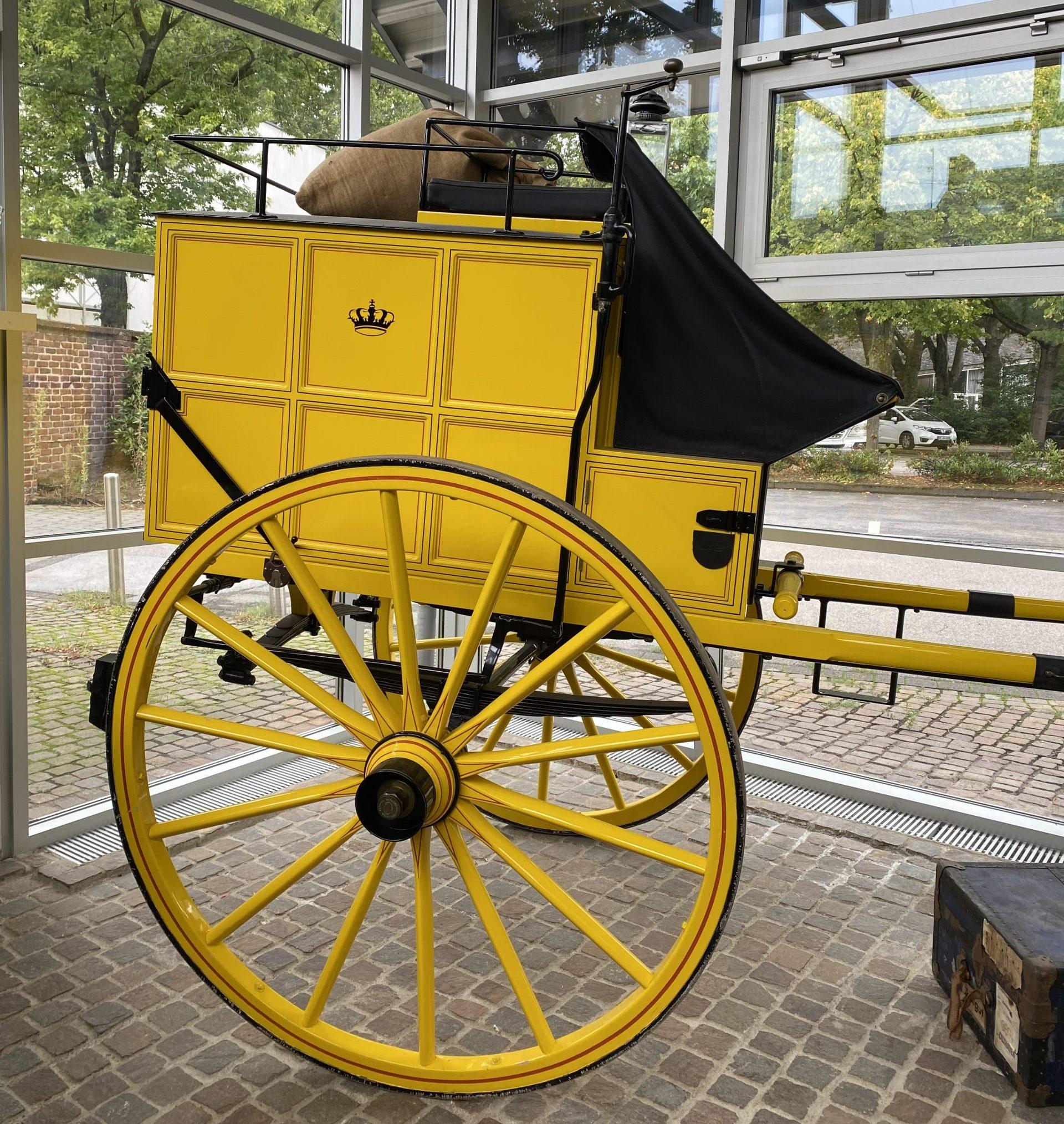Beiwagen der Langenfelder Postkutsche. Foto Stadtmuseum Langenfeld