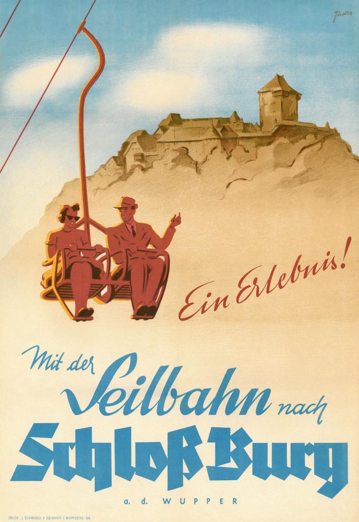 Poster, 1952. Schlossbauverein Schloss Burg