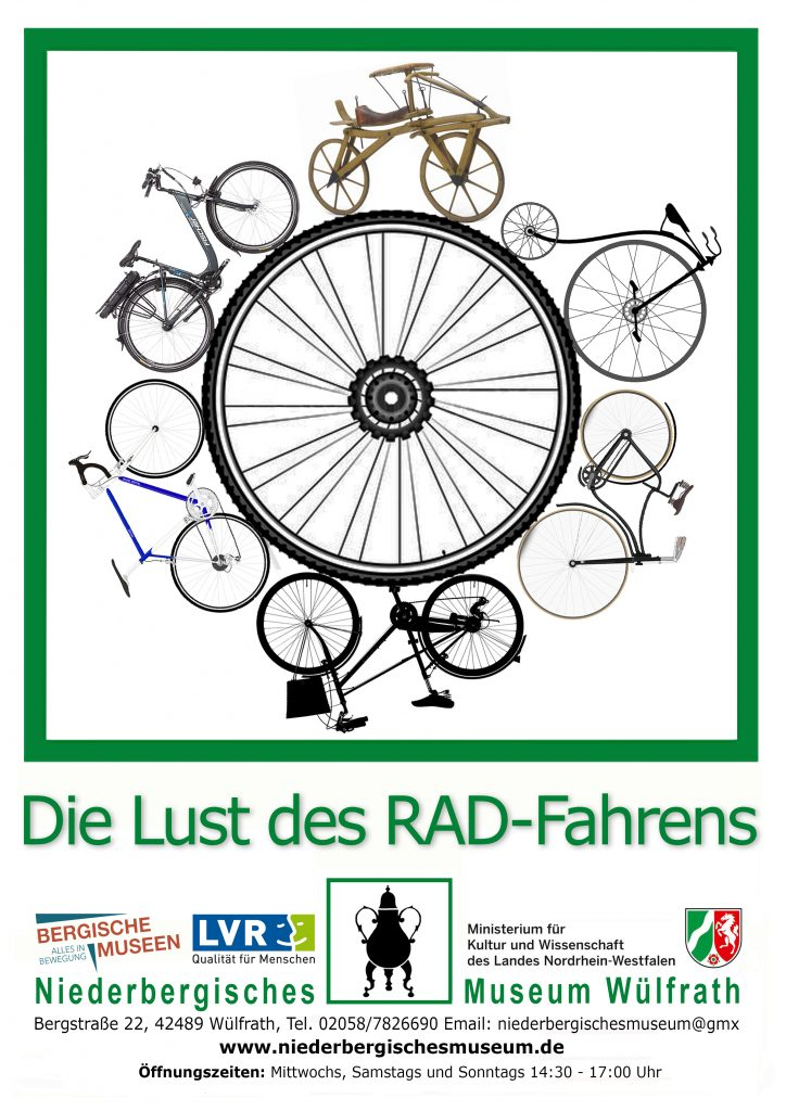 """Poster zur Ausstellung """"Die Lust des RAD-Fahrens"""""""