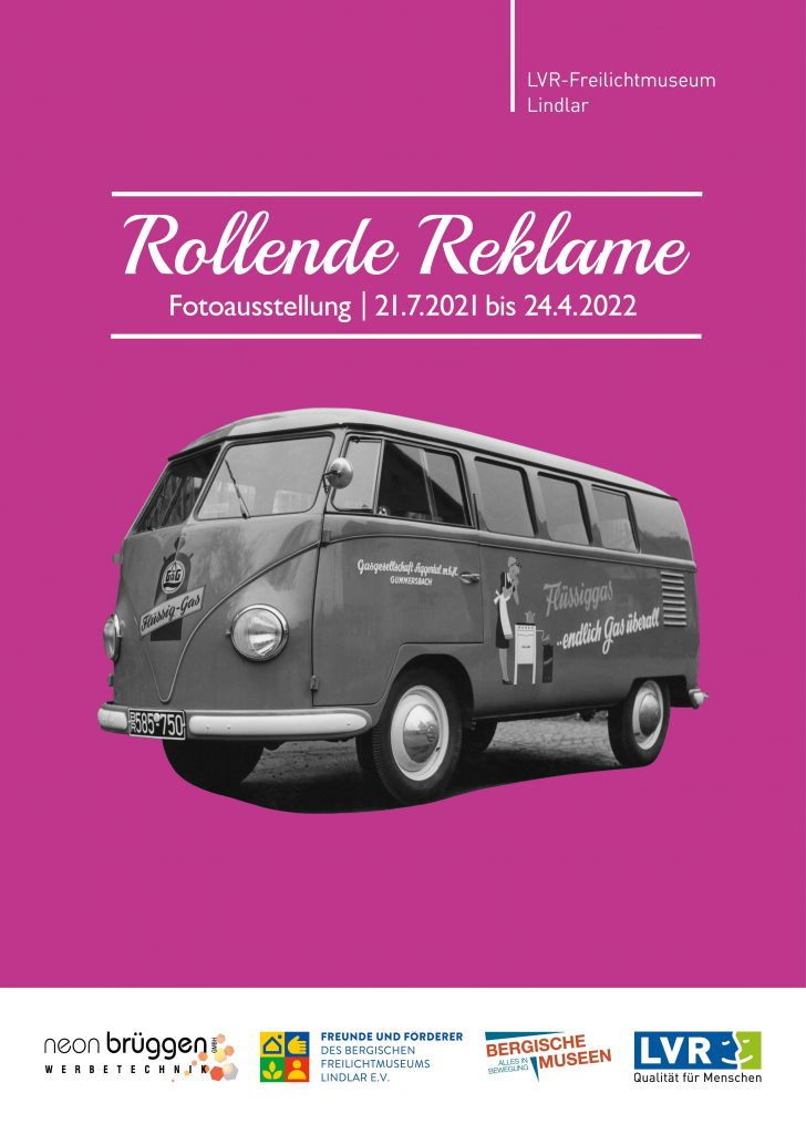 """Plakat zur Ausstellung """"Rollende Reklame"""""""