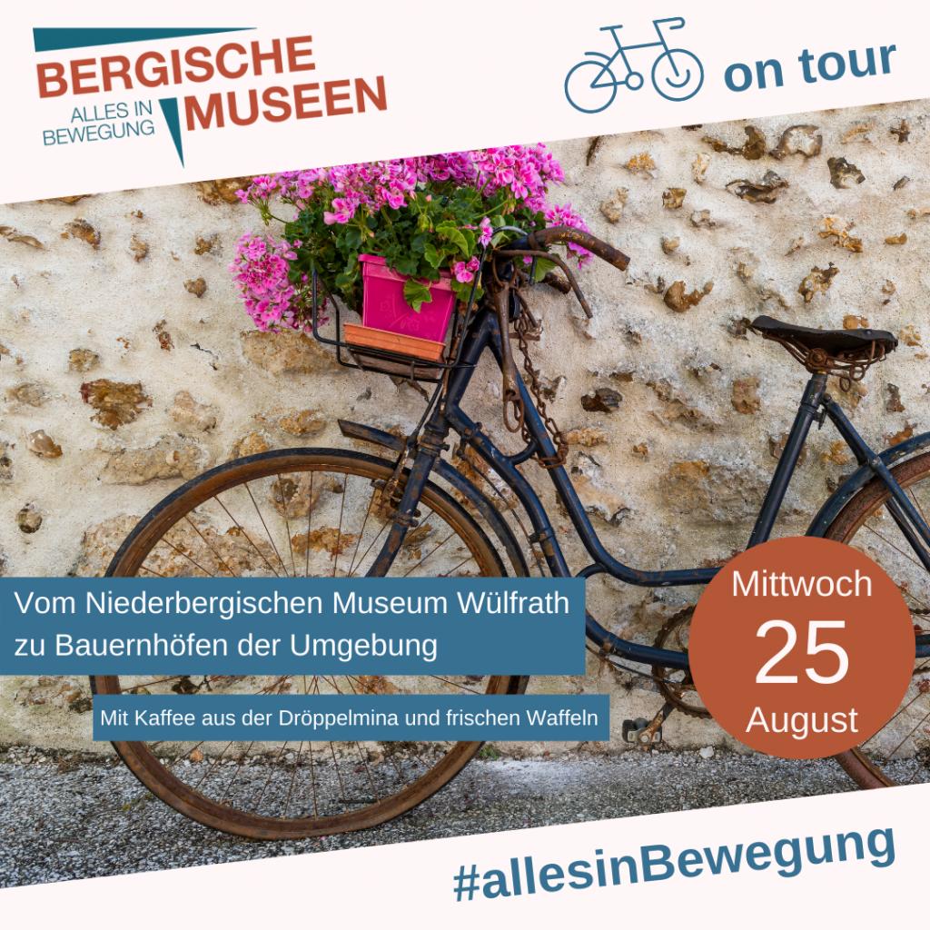 Ankündigung für Radtour 25. August 2021