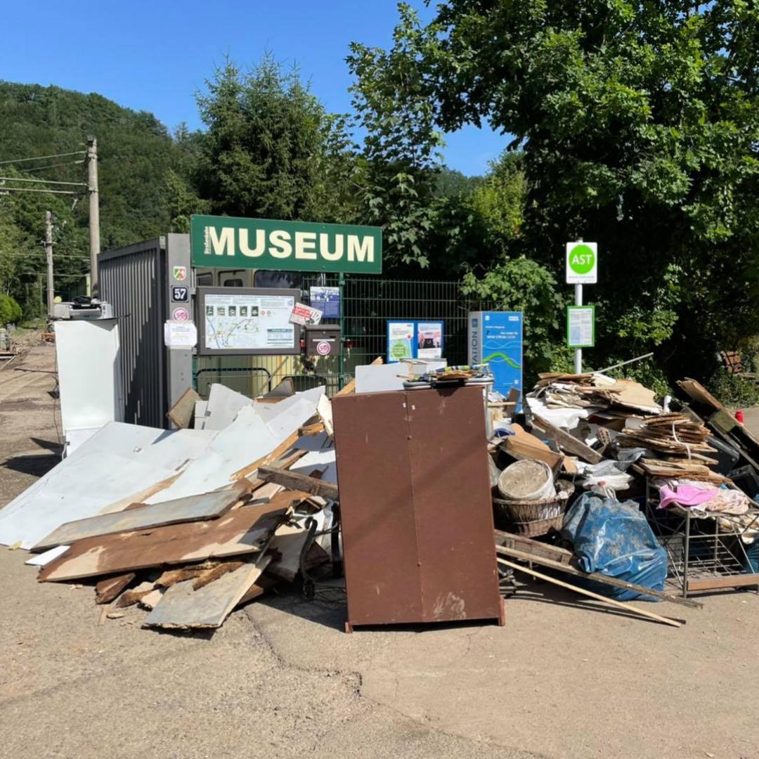 Hochwasserschäden bei den Bergischen Museeen