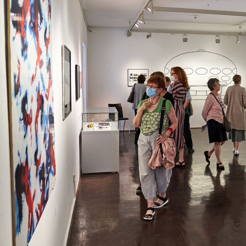 """Ausstellung """"Into Space"""" im Wilhelm-Fabry-Museum. Foto: Peter Siepmann"""