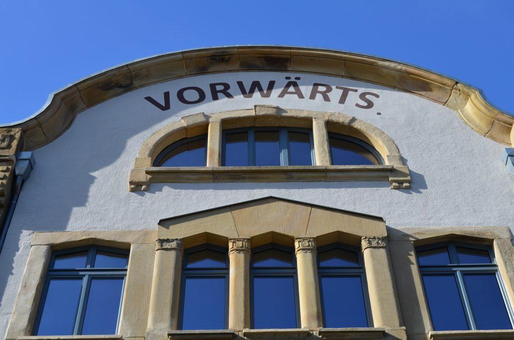Außenansicht Gebäude Münzstraße. Konsumgenossenschaft Vorwärts Münzstraße e.V.