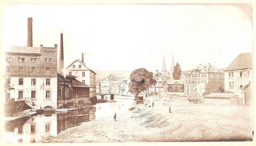 """Ansicht vom """"Mäuerchen"""", Elberfeld, 1860"""